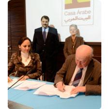 Firma del convenio de colaboración con el Information and Decision Support Center