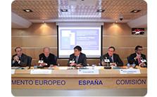 Participantes en la presentación como Jorge Lafuente, Matías Rodríguez-Inciarte y Carlos Westendorp entre otros.